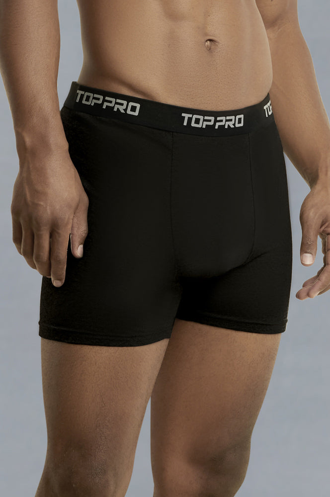 Load image into Gallery viewer, TOP PRO MEN'S COTTON STRETCH BOXER BRIEF (TUB110_BLACK)