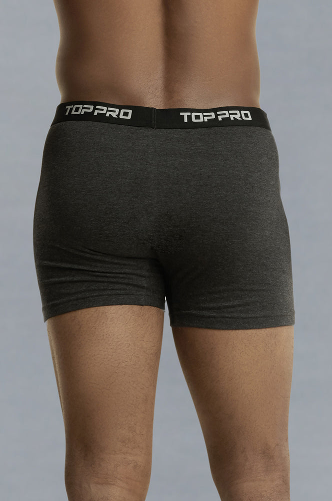 Load image into Gallery viewer, TOP PRO MEN'S COTTON STRETCH BOXER BRIEF (TUB110_CH/HT)