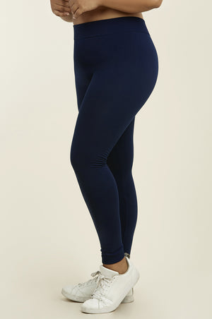 MOPAS LADIES SEAMLESS FLEECE LEGGINGS PLUS SIZE (TX300X)