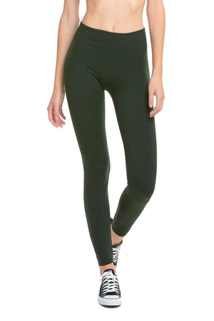 Load image into Gallery viewer, SOFRA LADIES FLEECE LINED LEGGINGS (TX700)
