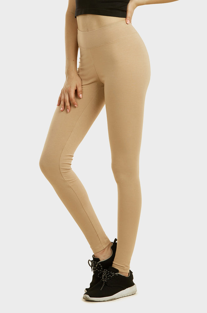 Load image into Gallery viewer, SOFRA LADIES COTTON LEGGINGS (WP4000_BEIGE)