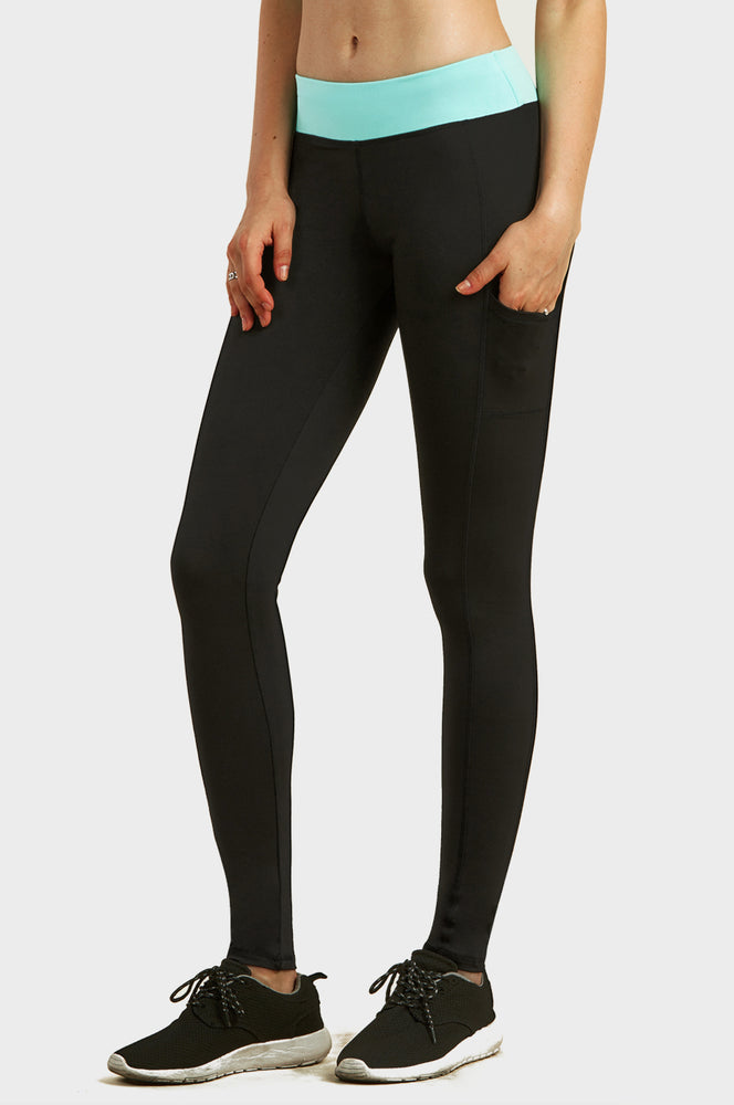 SOFRA LADIES ACTIVE LEGGING W/ SIDE POCKET (AL1001)
