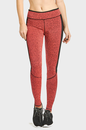 SOFRA LADIES TWO-TONE ATHLETIC LEGGINGS (AL2000)