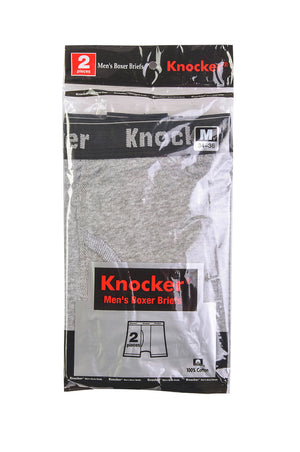 Load image into Gallery viewer, KNOCKER MEN'S BOXER BRIEFS (BBC3500_H.GRY)