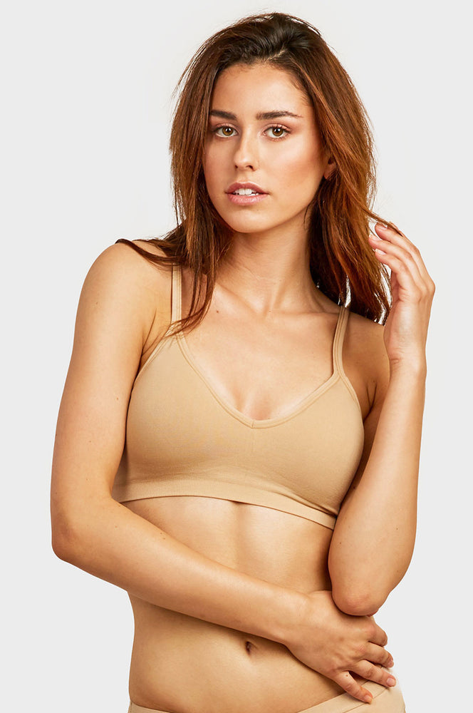 SOFRA LADIES SEAMLESS SPORTS BRA (BR0160SP)