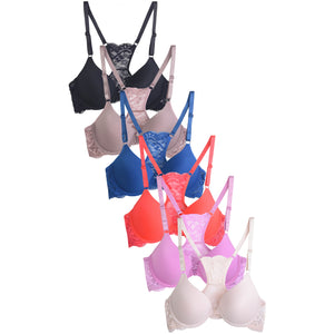 SOFRA LADIES PLAIN LACE BRA (BR2083PL) - BOX ONLY