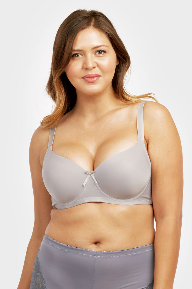 SOFRA LADIES FULL CUP PLAIN D CUP BRA,  WIDE STRAP (BR4129PD2) - BOX ONLY