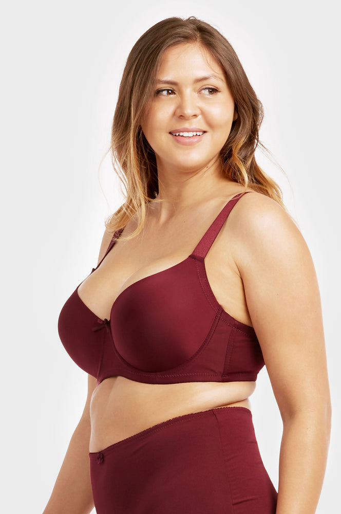Load image into Gallery viewer, SOFRA LADIES FULL CUP PLAIN DD CUP BRA - 3 HOOKS WIDE STRAPS (BR4129PDD1)