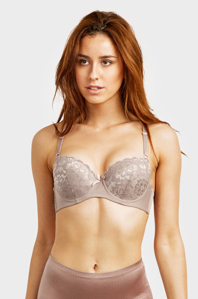 SOFRA LADIES DEMI CUP LACE PUSH UP BRA (BR4152LPU1) - BOX ONLY