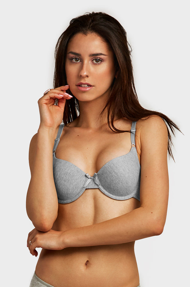 SOFRA LADIES FULL CUP PLAIN COTTON BRA (BR4167P5) - BOX ONLY