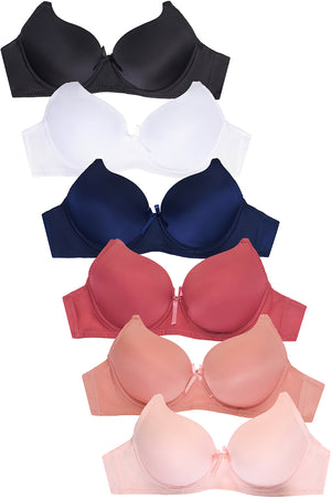 Load image into Gallery viewer, SOFRA LADIES FULL CUP PLAIN BRA (BR4180P6)
