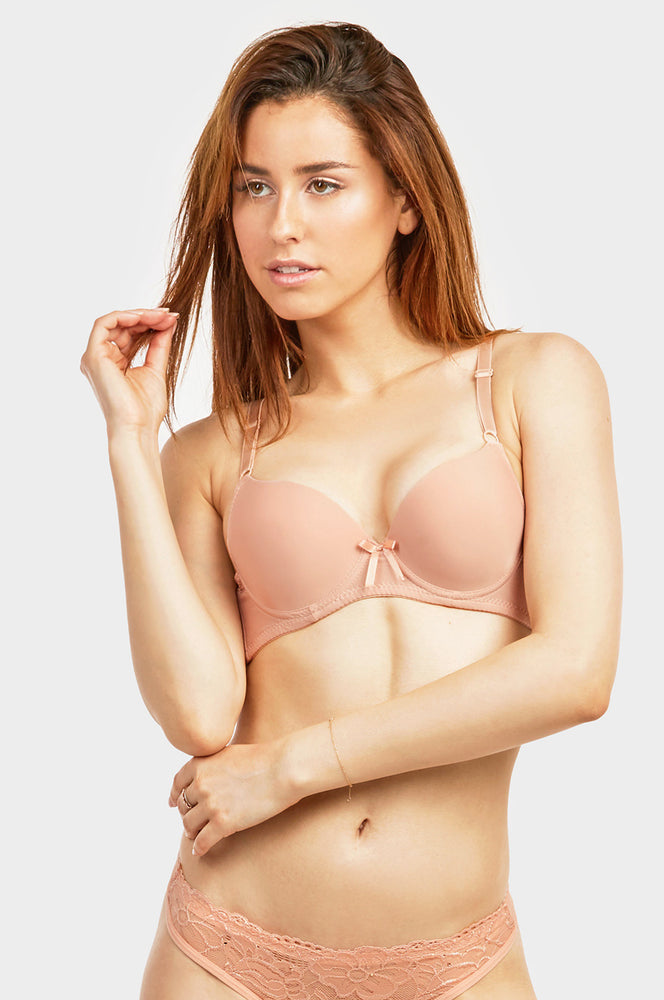 Load image into Gallery viewer, SOFRA LADIES FULL CUP PLAIN PUSH UP BRA (BR4186PU2) - BOX ONLY