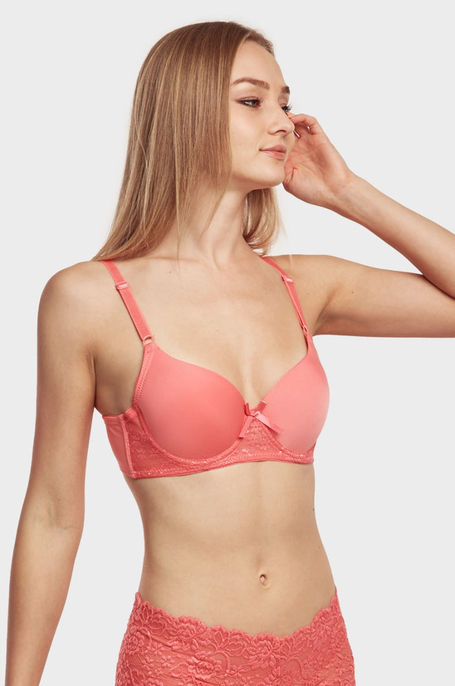 Load image into Gallery viewer, SOFRA LADIES FULL CUP PLAIN BRA (BR4226P2)