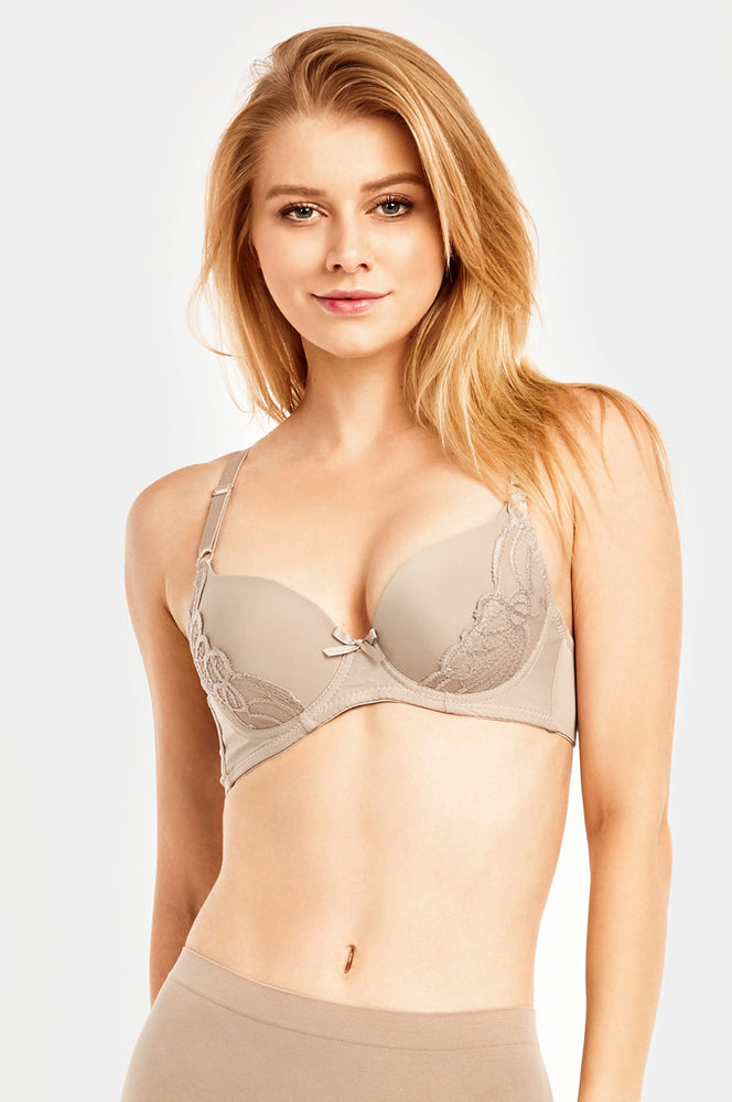 SOFRA LADIES PLAIN LACE FULL CUP BRA (BR4227PL) - BOX ONLY