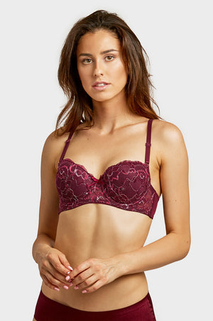 Load image into Gallery viewer, ET TU LADIES DEMI CUP LACE STRAPLESS BRA (BR4228LE) - BOX ONLY