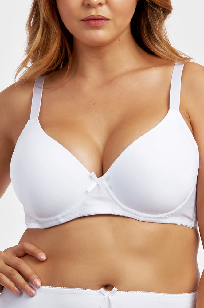 SOFRA LADIES FULL CUP PLAIN DD CUP BRA, WIDE STRAP (BR4240PDD)