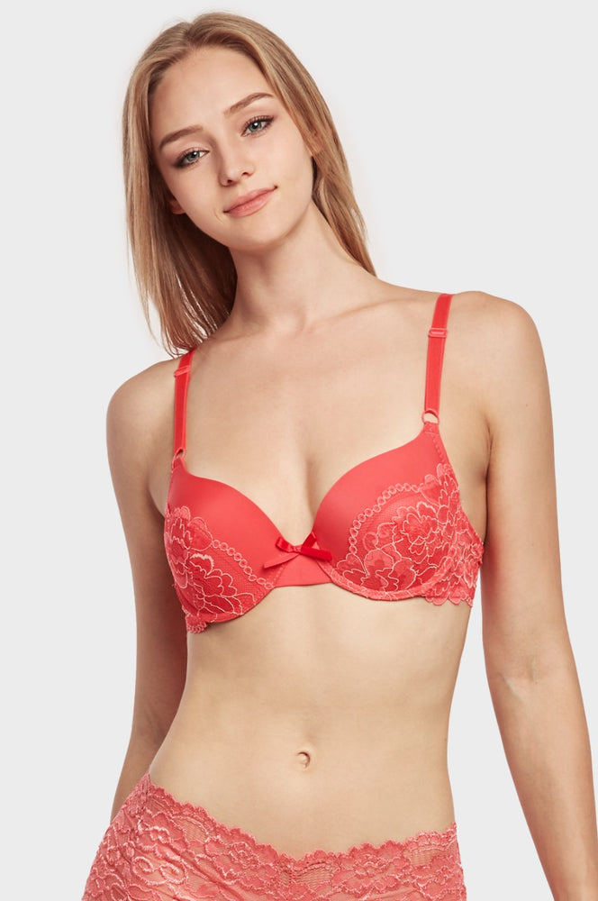 MAMIA LADIES FULL CUP PLAIN LACE BRA (BR4244PL2) - BOX ONLY
