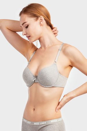 SOFRA LADIES FULL CUP PLAIN COTTON BRA (BR4260P3) - BOX ONLY