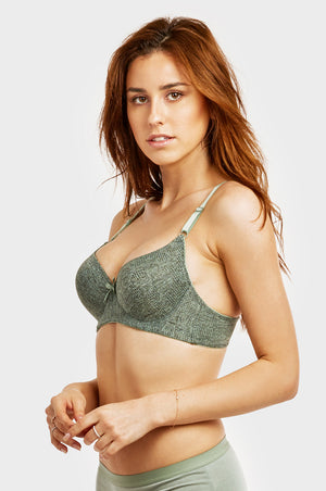 Load image into Gallery viewer, SOFRA LADIES FULL CUP JACQUARD BRA (BR4333J)