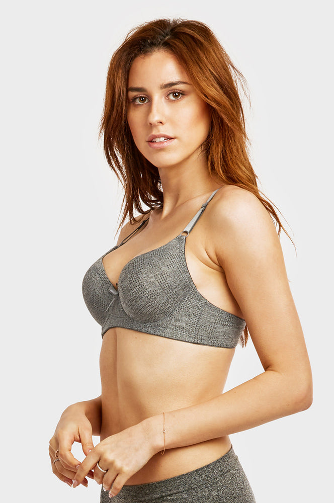 Load image into Gallery viewer, ET TU LADIES FULL CUP JACQUARD BRA (BR4333JE) - BOX ONLY
