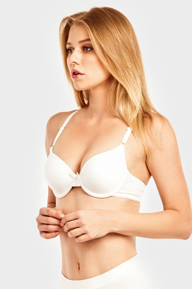 SOFRA LADIES FULL CUP PLAIN COTTON BRA (BR4353P)