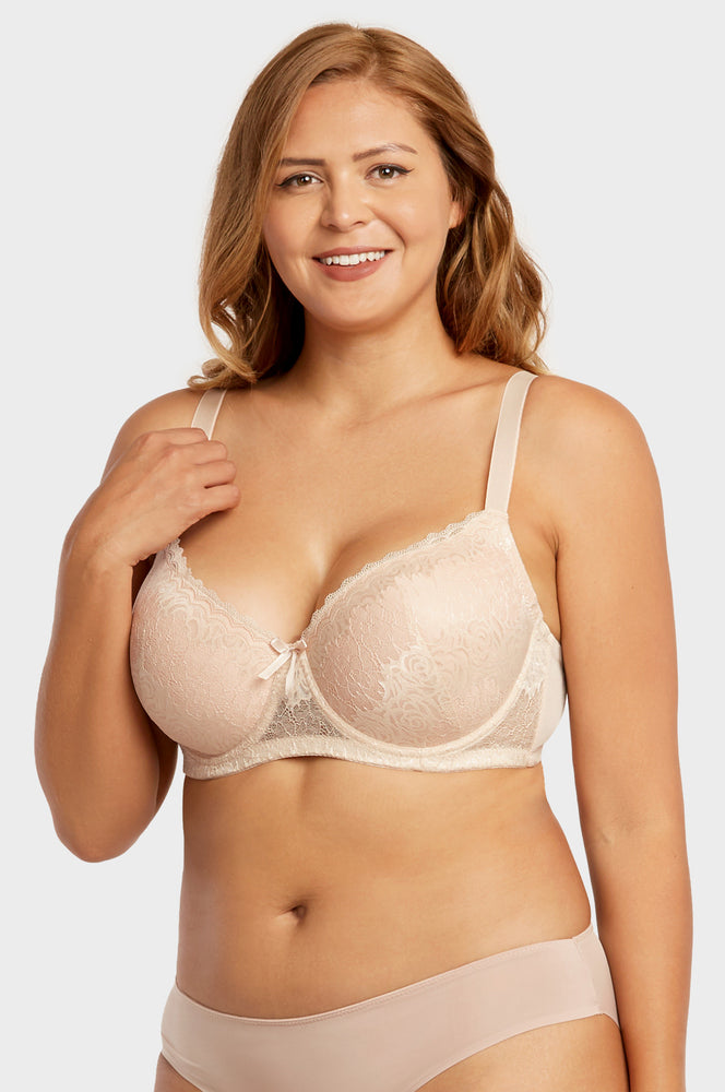 SOFRA LADIES FULL CUP LACE DD CUP BRA (BR4356LDD) - BOX ONLY
