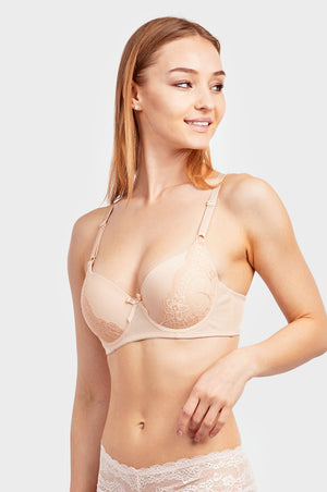 Load image into Gallery viewer, MAMIA LADIES FULL CUP PLAIN LACE BRA (BR4367PL)