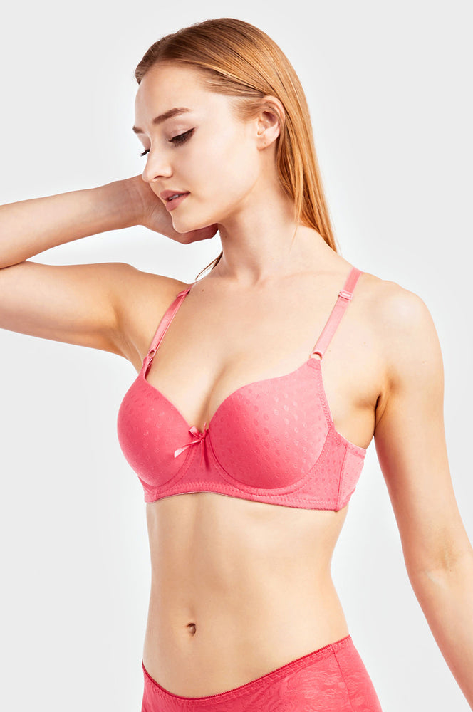 Load image into Gallery viewer, MAMIA LADIES FULL CUP JACQUARD BRA (BR4368J)