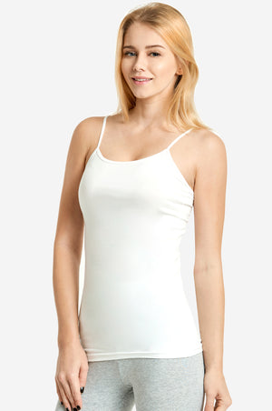 MOPAS LADIES CAMISOLE W/ SELF-FABRIC BINDING (CM401)