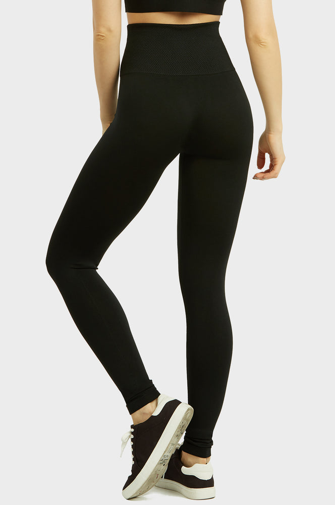 SOFRA LADIES HIGH WAIST EXTRA-WIDE BAND LEGGINGS (EX907)
