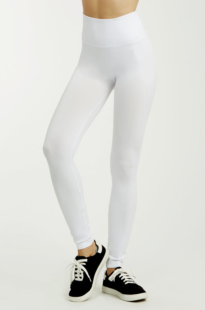 Load image into Gallery viewer, SOFRA LADIES HIGH WAIST EXTRA-WIDE BAND LEGGINGS (EX907)