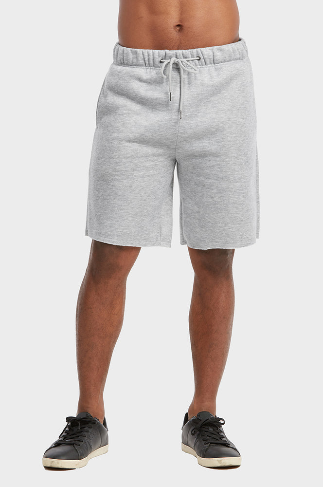 LIBERO MEN'S FLEECE SHORTS (FS1001_H.GRY)