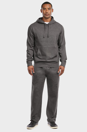 Load image into Gallery viewer, ET TU MEN'S LIGHTWEIGHT FLEECE PULLOVER HOODIE (HD1020E_CH-GR)