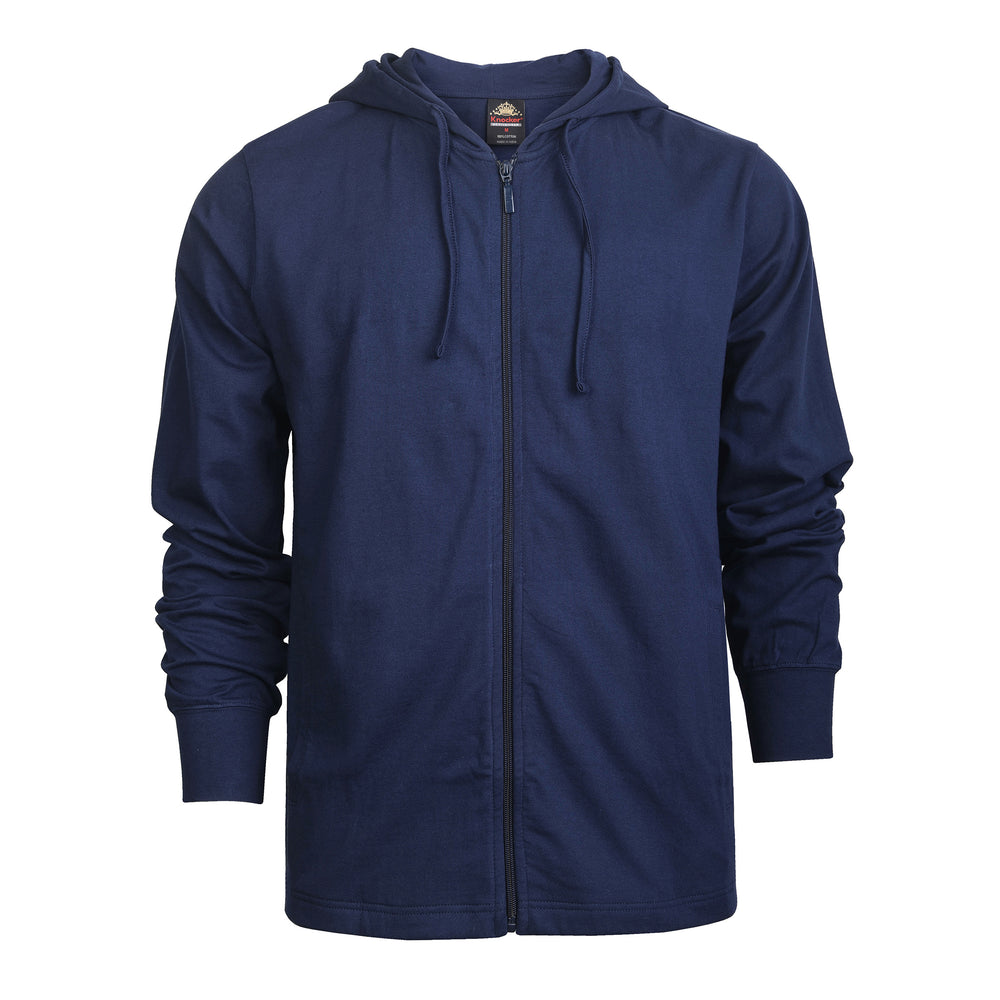 Load image into Gallery viewer, ET TU MEN'S COTTON JERSEY HOODIE JACKET (HD4100E_NAVY)