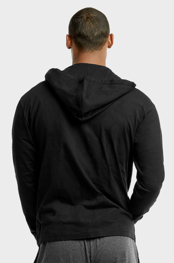 ET TU MEN'S COTTON JERSEY HOODIE JACKET (HD4100E_BLACK)