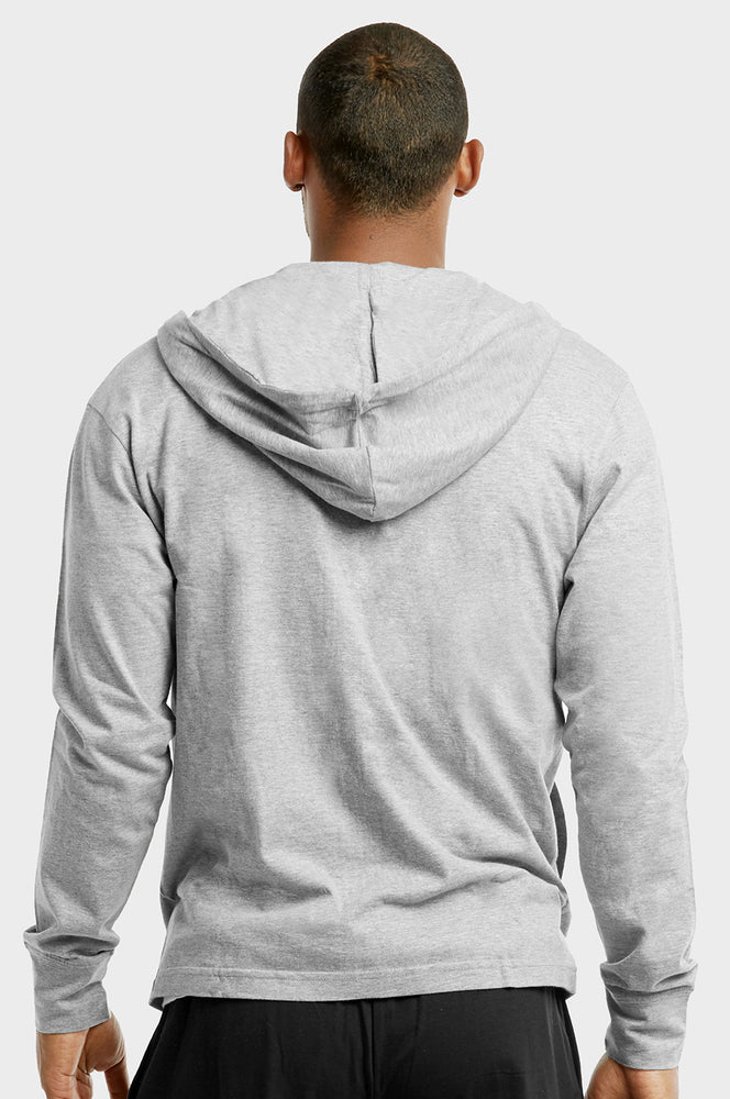 Load image into Gallery viewer, ET TU MEN'S COTTON JERSEY HOODIE JACKET (HD4100E_H.GRY)