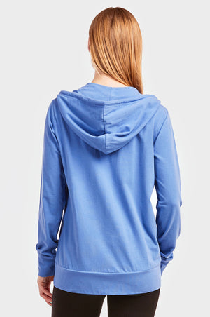 Load image into Gallery viewer, SOFRA LADIES THIN ZIP-UP HOODIE JACKET (HDC7000_BLUE)