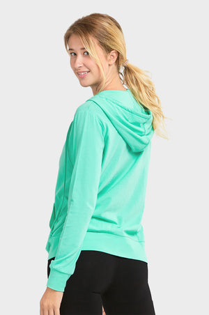 Load image into Gallery viewer, SOFRA LADIES THIN ZIP-UP HOODIE JACKET (HDC7000_MINT)