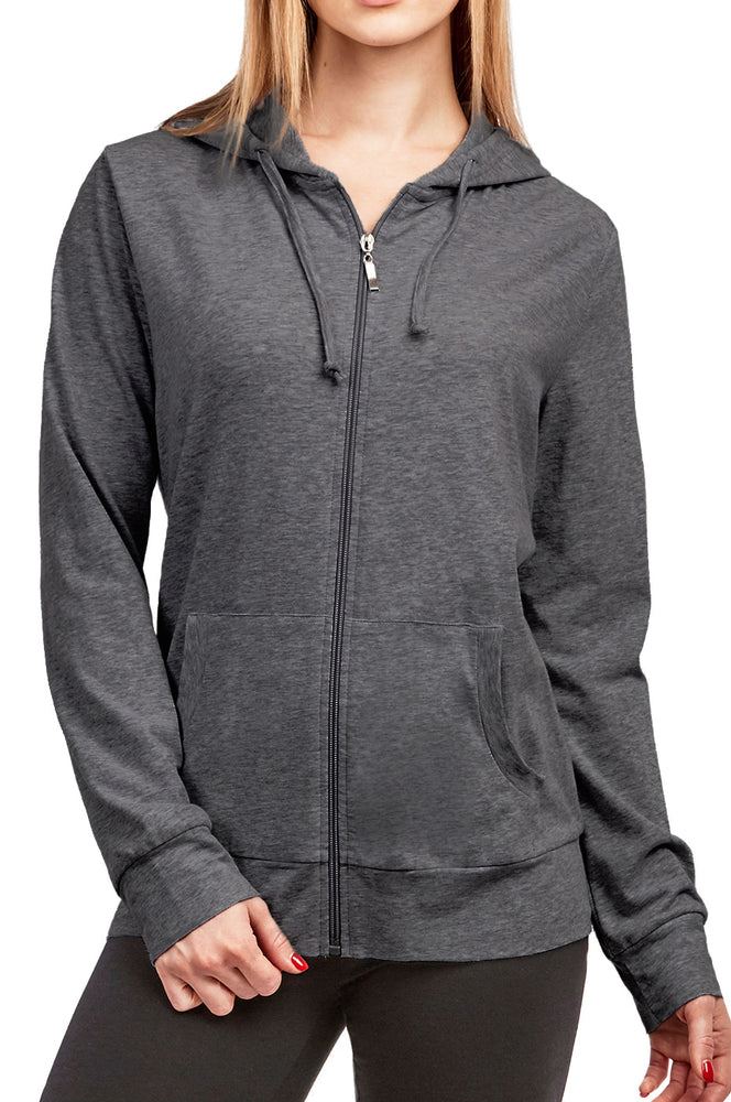 COTTONBELL LADIES THIN ZIP-UP HOODIE JACKET (HDC7000C_CHC/GR)