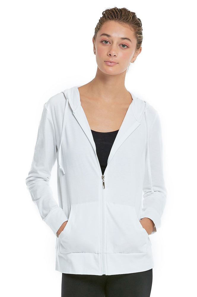 COTTONBELL LADIES THIN ZIP-UP HOODIE JACKET (HDC7000C_WHITE)