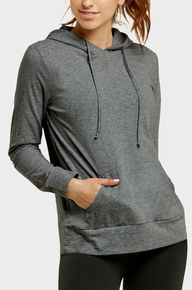 Load image into Gallery viewer, SOFRA LADIES THIN PULLOVER HOODIE (HDC7001_CHC/GR)