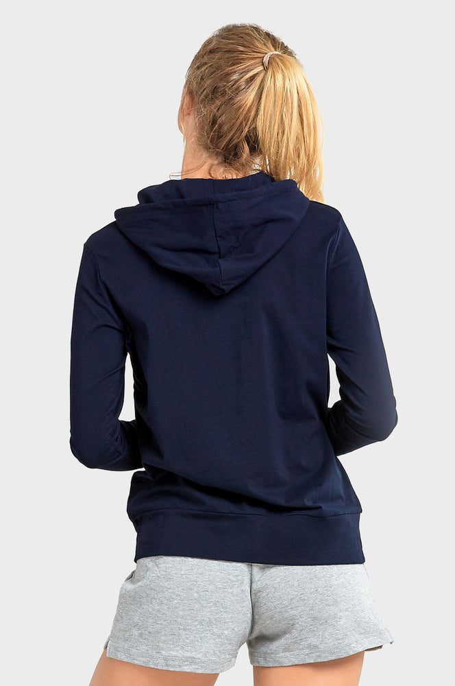 SOFRA LADIES THIN PULLOVER HOODIE (HDC7001_NAVY)