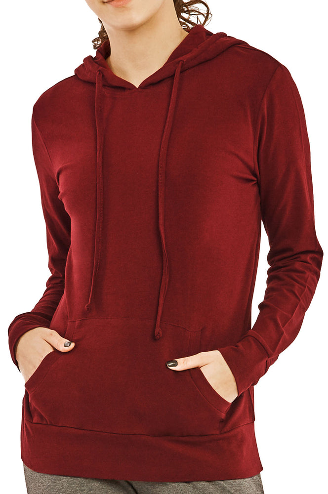 COTTONBELL LADIES THIN PULLOVER HOODIE (HDC7001C_BURG)