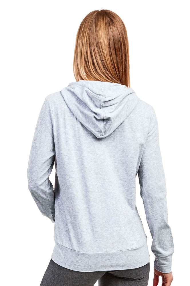 Load image into Gallery viewer, COTTONBELL LADIES THIN PULLOVER HOODIE (HDC7001C_H.GRY)