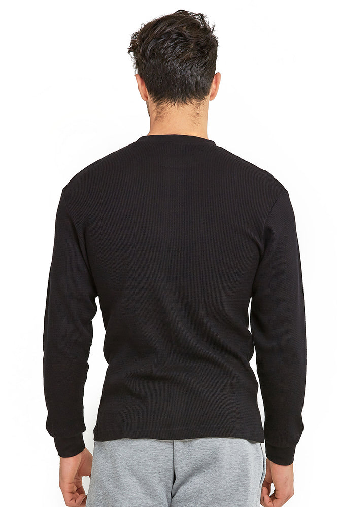 COTTONBELL MEN'S HEAVY THERMAL (KHT001C_BLACK)