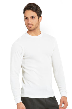 COTTONBELL MEN'S HEAVY THERMAL (KHT001C_WHITE)