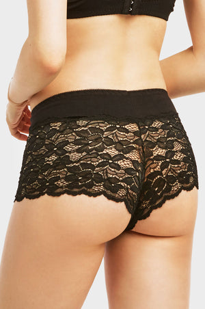 SOFRA LADIES COTTON LACE HIPSTER PANTY (LP1337CH10)