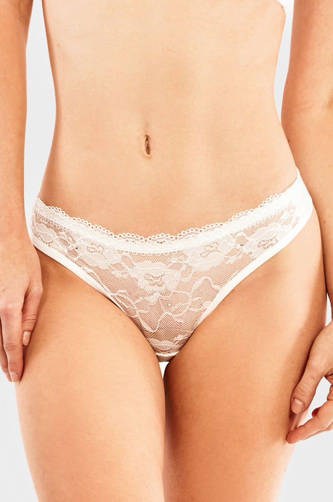 Load image into Gallery viewer, SOFRA LADIES LACE COTTON THONG PANTY (LP1474CT) - BOX ONLY