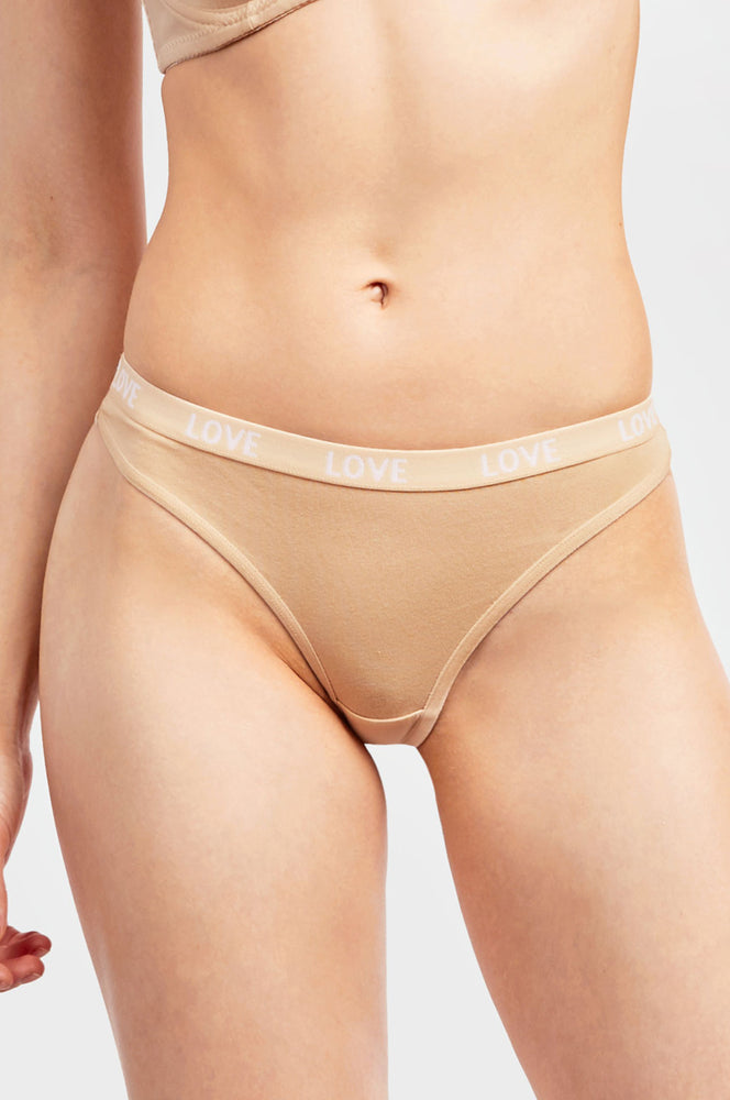 COTTONBELL LADIES COTTON THONG PANTY (LP1484CT)