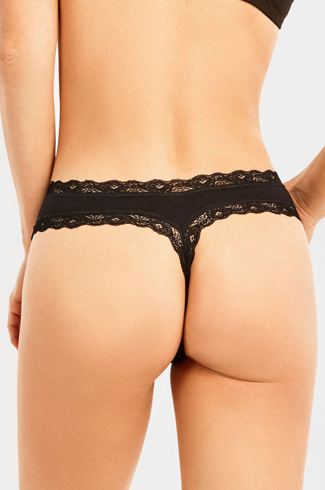 SOFRA LADIES COTTON THONG PANTY (LP1617CT)